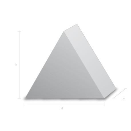 Goma espuma forma piramide